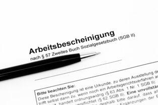 Arbeitsbescheinigung: Formular der Arbeitsagentur als Vorlage für den Arbeitgeber