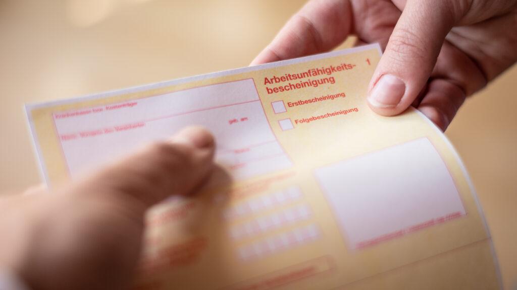 Datenschutz, Krankschreibung, DSGVO, Arbeitsausfall, Krankmeldung