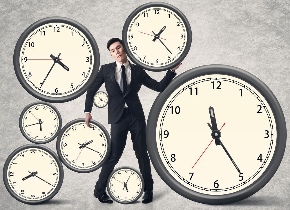 Arbeitszeit, Zeit der Arbeit, Mann arbeitet zu viel, Gesetze zur Arbeitszeit